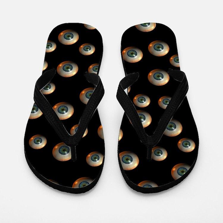 Creepy Eyeballs Flip Flops Thongs Flip Flops