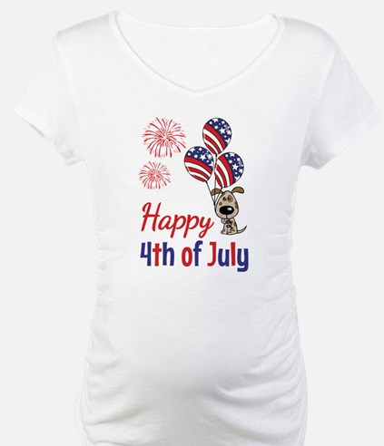 Happy 4th Doggy with Balloons Shirt