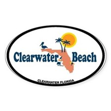Clearwater FL - Map Design. Decal