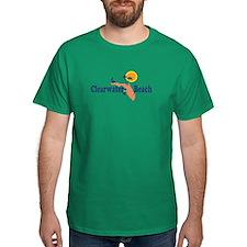 Clearwater FL - Map Design. T-Shirt