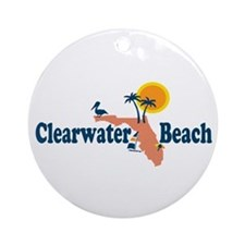 Clearwater FL - Map Design. Ornament (Round)