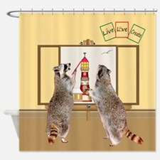 Raccoons Painting Shower Curtain