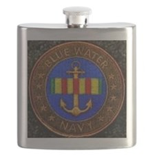 Blue Water Navy Flask