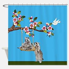 Raccoon Swing Shower Curtain