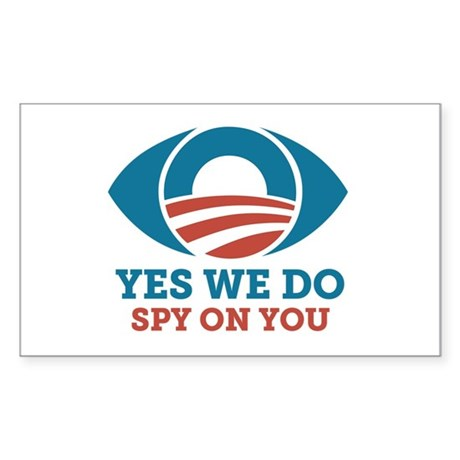 Yes We Do Spy On You (Obama Eye) Sticker