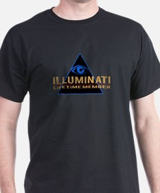 Our Cheapest Illuminati T-Shirt (blue logo)