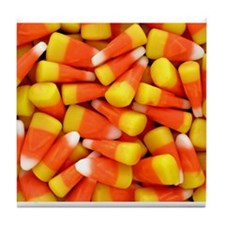 Candy Corn Halloween Shirt Tile Coaster
