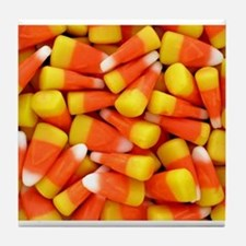 Candy Corn Halloween Shirt Tile Coaster