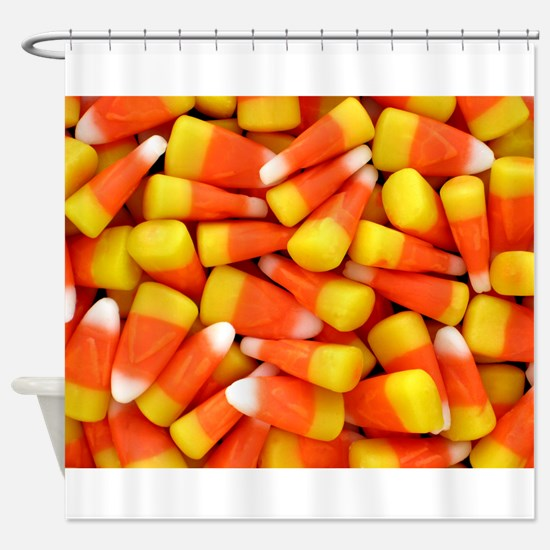Candy Corn Halloween Shirt Shower Curtain