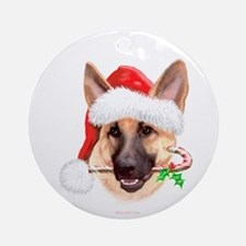 Tan G Shepherd Christmas Ornament (Round)