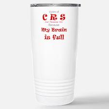 My Brain is Full-red Travel Mug