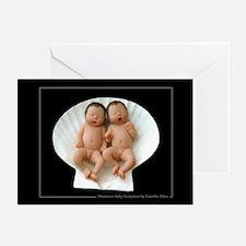 B/G Twins Baby Shower Invites (Pk of 10)