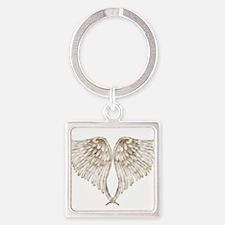 Golden Angel Square Keychain