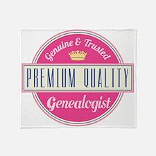 Funny Premium Quality Genealogist Throw Blanket