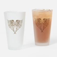 Golden Angel Drinking Glass