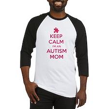 Keep Calm I'm An Autism Mom Baseball Jersey