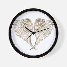 Golden Angel Wall Clock
