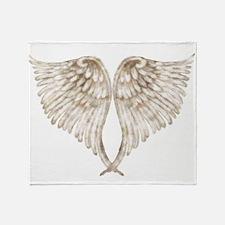 Golden Angel Throw Blanket