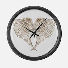 Golden Angel Large Wall Clock