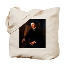 Nikola Tesla - the Blue Portrait Tote Bag