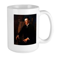 Nikola Tesla - the Blue Portrait Ceramic Mugs
