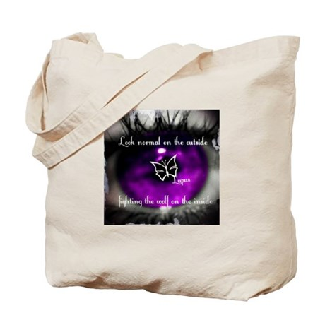 Through the eye of lupus Tote Bag