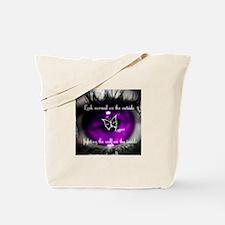 Through the eye of lupus Tote Bag