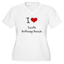 I Love SOUTH BETHANY BEACH Plus Size T-Shirt