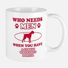 Funny German Wirehaired lover designs Mug