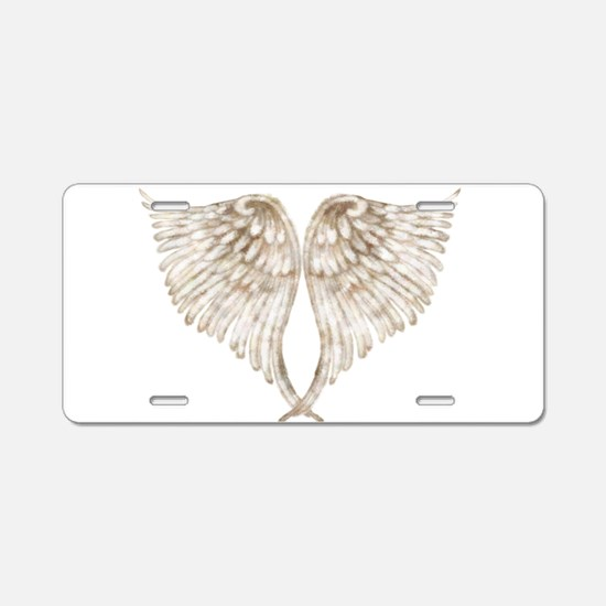 Golden Angel Aluminum License Plate