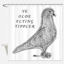 Ye Olde Flying Tippler Pigeon Shower Curtain