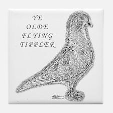 Ye Olde Flying Tippler Pigeon Tile Coaster