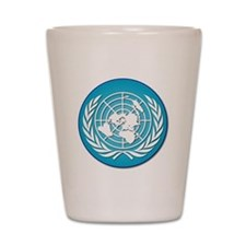 The United Nations Shot Glass
