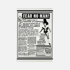 Fear No Man! Rectangle Magnet