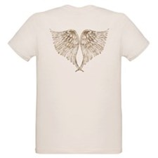 Golden Angel Wings T-Shirt
