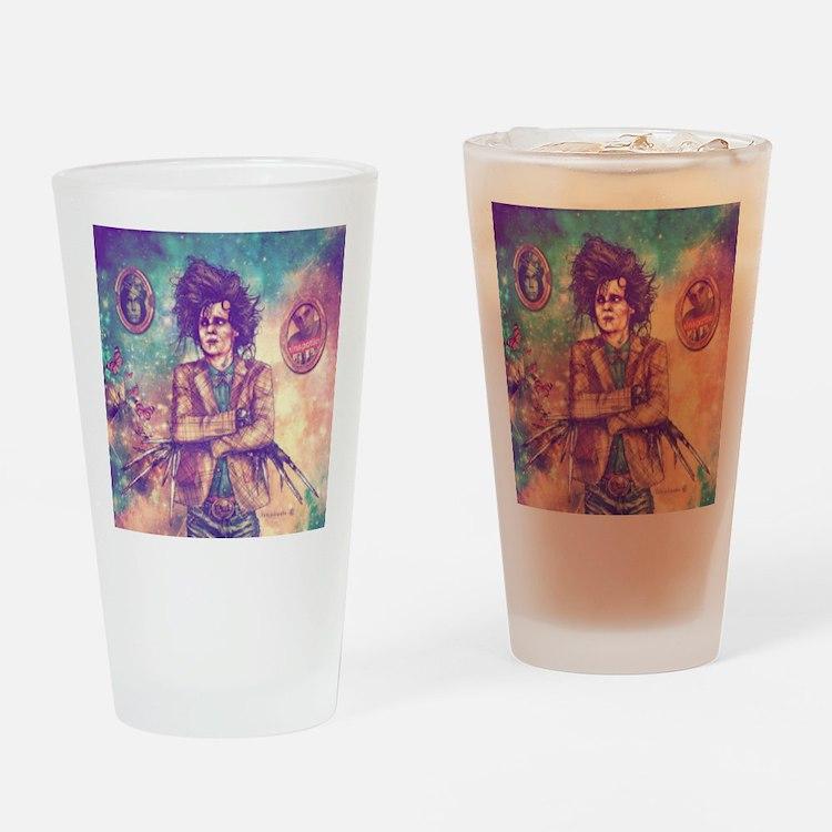Scissorhands Drinking Glass