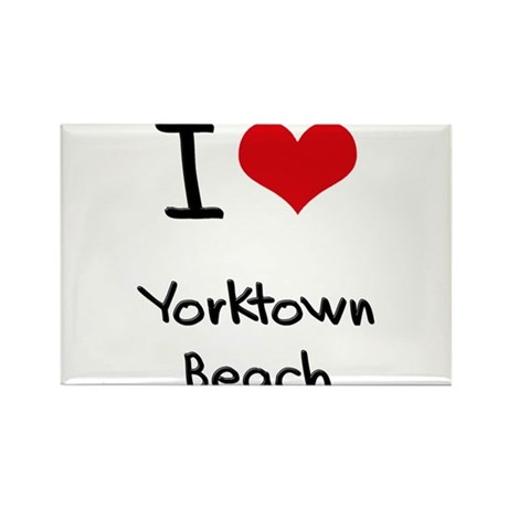I Love YORKTOWN BEACH Rectangle Magnet