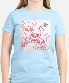 Pretty in skulls Women's Pink T-Shirt