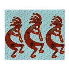 Lizard Kokopelli Throw Blanket