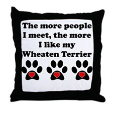 My Wheaten Terrier Throw Pillow