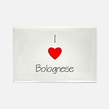 I love Bolognese Rectangle Magnet (100 pack)