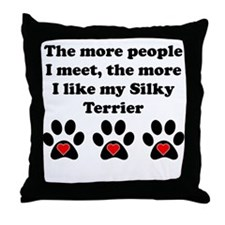 My Silky Terrier Throw Pillow