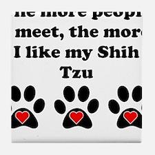 My Shih Tzu Tile Coaster