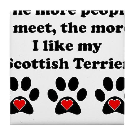 My Scottish Terrier Tile Coaster