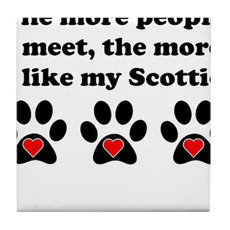 My Scottie Tile Coaster