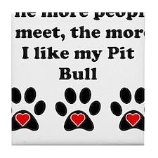 My Pit Bull Tile Coaster