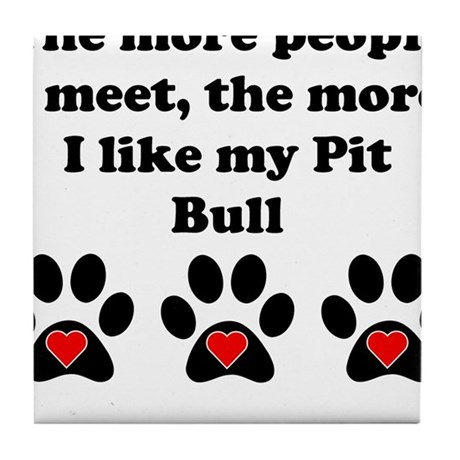 My Pit Bull Tile Coaster