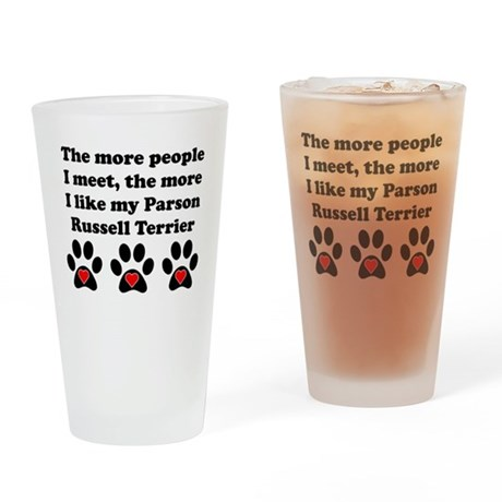 My Parson Russell Terrier Drinking Glass