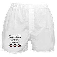 My Old English Sheepdog Boxer Shorts