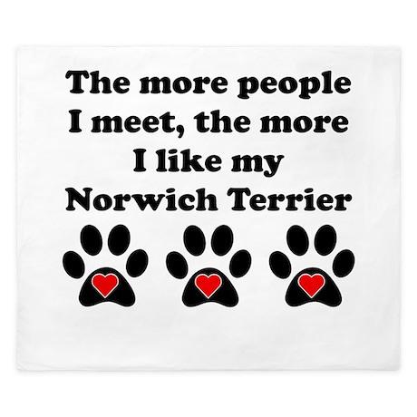 My Norwich Terrier King Duvet